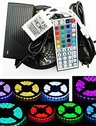cheap -RGB Strip Lights 300 LEDs RGB Remote Control / RC Cuttable Color-Changing Self-adhesive 100-240V