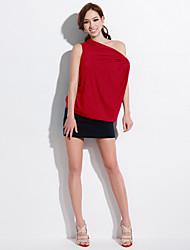 Joanne / cinza / t-shirt laranja vermelha sólida gatinho das mulheres, barco pescoço de manga curta