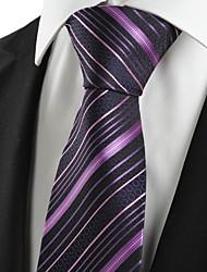 Недорогие -Галстук(Фиолетовый,Полиэстер)В полоску