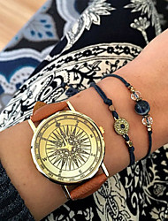 cheap -Women's Watches Vintage Compass Watch Travel jewelry Men's Quartz Fashion watch World Map Watch Wanderlust Ladies' Cool Watches Unique Watches