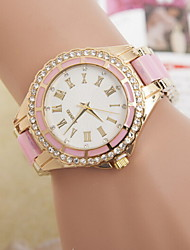 baratos -Mulheres Relógio de Pulso Quartzo Venda imperdível Lega Banda Analógico Amuleto Fashion Preta / Branco - Preto Rosa claro