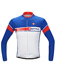 cheap -SANTIC Men's Long Sleeve Cycling Jersey Bike Jersey, Quick Dry, Ultraviolet Resistant, Breathable Polyester