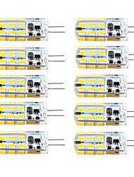 cheap -10pcs 2.5W 260 lm G4 LED Bi-pin Lights T 81 leds SMD 2835 Dimmable Warm White Cold White AC 12V DC 12V AC 220-240V