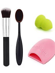 makeup tandbørste + foundation børste + fundament pust + rengøring æg