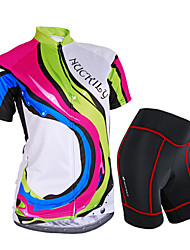 cheap -Nuckily Women's Short Sleeves Cycling Jersey with Shorts - Camouflage Floral / Botanical Geometic Bike Shorts Jersey Clothing Suits,