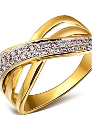 cheap -Women's Statement Rings Costume Jewelry Cubic Zirconia Copper Platinum Plated Gold Plated 18K gold Jewelry For Wedding Party Daily Casual
