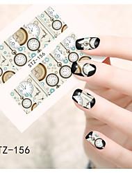 1 Nail Art naljepnica Naljepnica za prijenos vode Cvijet Crtići Lijep šminka Kozmetički Nail art dizajn