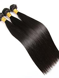 Přírodní vlasy Brazilské vlasy Lidské vlasy Vazby Rovné Prodloužení vlasů 3 kusy Černá