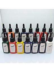 1 Set BaseKey Tattoo Ink  15MLx15 colors