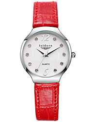 cheap -Women's Wrist Watch Water Resistant / Water Proof Leather Band Flower / Casual / Fashion Black / White / Red