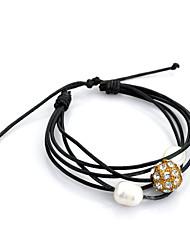 preiswerte -Damen Ketten- & Glieder-Armbänder Strang-Armbänder Lederarmbänder Gothic Schmuck Modeschmuck Perle Krystall Leder versilbert Schmuck Für