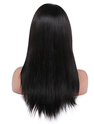 cheap -Remy Human Hair Full Lace Wig Straight Yaki 130% 150% 180% Density 100% Hand Tied African American Wig Natural Hairline Short Medium