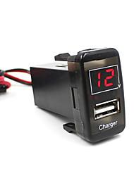 preiswerte -Auto 5v 2.1a USB-Anschluss Armaturenbrett Voltmeter Handy-Ladegerät für Toyota vigo ausgezeichnet