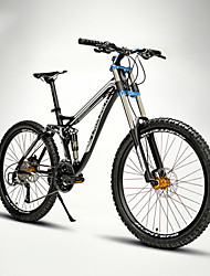 Mountain Bike Cycling 24 Speed 26 Inch/700CC EF-51-8 Double Disc Brake Suspension Fork Full Suspension Soft-tail Frame AluminiumAluminium