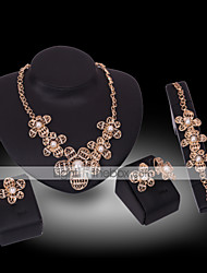Collana / Orecchino / Bracciale / Anello-Donna-Vintage / Da serataDIPlaccato oro / Lega / Diamantino / Perle di imitazione