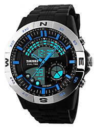 cheap -Men's Sport Watch Wrist Watch Quartz 30 m Water Resistant / Water Proof Alarm Calendar / date / day PU Band Analog-Digital Black - Red Blue Two Years Battery Life / Chronograph / LED / Maxell626+2025