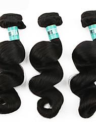 Menschenhaar spinnt Brasilianisches Haar Lose gewellt 3 Stück Haar webt