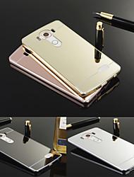 levne -Carcasă Pro LG LG pouzdro Galvanizované / Zrcadlo Zadní kryt Jednobarevné Pevné Akrylát pro LG V10