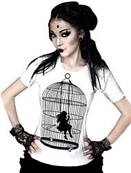 Bluse / Hemd Klassische/Traditionelle Lolita Cosplay Lolita Kleider Druck T-shirt Für Lycra Terylen