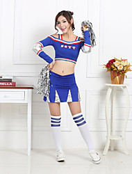 cheap -Cheerleader Costumes Outfits Women's Performance Polyester Pattern / Print Long Sleeves High Top Skirt