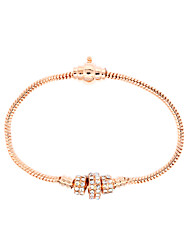 Casual Gold Plated / Silver Plated / Alloy / Rhinestone / Gemstone & Crystal Link/Chain Bracelet