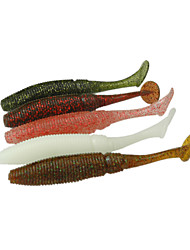 """12 Stück Angelköder Weiche Fischköder / Gummifische Verschiedene Farben g/Unze,100 mm/4"""" Zoll,Weicher KunststoffSpinn Fischen im"""