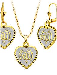 abordables -Mujer Conjunto de joyas - Plateado, Chapado en Oro Corazón, Amor Incluir Collar / pendientes Para Boda / Fiesta / Diario / Pendientes / Collare