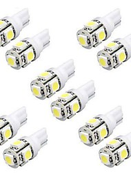 abordables -10pcs T10 Coche Bombillas 5W SMD 5050 240lm 5 Luz de Intermitente For Universal