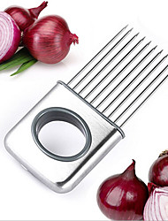cheap -Stainless Steel Onion Holder Slicer Vegetable Tools Tomato Cutter Meat Hamstring Fork