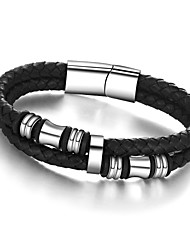 cheap -Men's Chain Bracelet Bracelet Unique Design Vintage Party Work Casual Fashion Stainless Steel Leather Titanium Steel Others Jewelry Party