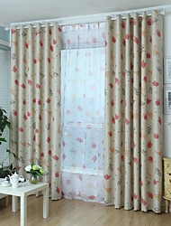 Lovely Pet One Panel Country Living Room Polyester Black Out Curtains