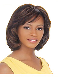 cheap -Synthetic Wig Straight Brown Women's Capless Carnival Wig Halloween Wig Black Wig Medium Synthetic Hair