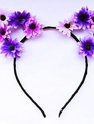 Fleur A Fleurs Rétro Fleurs Tissu Alliage Bandeau Arc-en-ciel