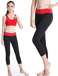 cheap -Women's Running Tights Running Baselayer Gym Leggings Quick Dry Compression Sweat-wicking Leggings Compression Clothing 3/4 Tights Pants