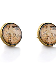 cheap -Stud Earrings - Gemstone Maps Simple Style Bronze For Wedding Party Daily