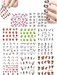 cheap -11pcs Lovely Cartoon  Animal  Mickey Cat Expression Water Transfer Nail Art Stickers