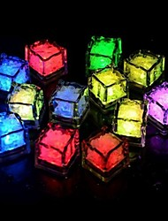 24pcs Blue / Red / Green / Pink / Yellow / RGB / White Ice Cubes LED light Party Wedding Bar Restaurant