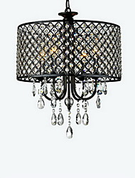 cheap -MAX:60W Chandelier ,  Traditional/Classic Chrome Feature for Crystal Metal Bedroom / Dining Room / Study Room/Office / Hallway