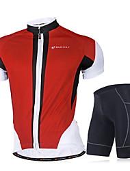Nuckily Camisa com Shorts para Ciclismo Homens Manga Curta Moto Conjuntos de Roupas Secagem Rápida A Prova de Vento Design Anatômico
