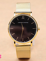 cheap -Men's Quartz Wrist Watch Hot Sale Alloy Band Charm Fashion Silver Gold