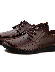 cheap -Men's Shoes Wedding /Office & Career/Party & Evening/Dress/Casual Nappa Leather Oxfords Big Size Black/Brown/Taupe