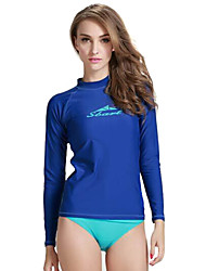 cheap -SBART Women's Diving Rash Guard Ultraviolet Resistant Breathable Stretch Lycra Long Sleeves Top Diving Surfing Snorkeling