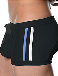 Men's Nylon / Polyester Solid Swim Shorts