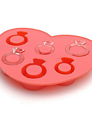 cheap -Ring Ice Mould Silicone Ice Cubes Tray Pudding Jelly Mold (Random Color)