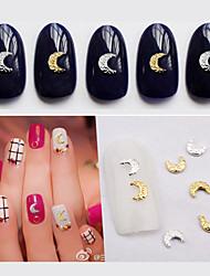 50pcs Gold Silver Moon Nail Decorations-Autre décorations-Doigt / Orteil- enAdorable-4mm*5mm