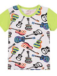 preiswerte -Jungen T-Shirt Baumwolle Sommer Kurzarm Zeichentrick Grün