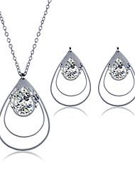 cheap -Men's Women's Jewelry Set Necklace/Earrings Stainless Steel Zircon Titanium Steel Steel Geometric Fashion Wedding Party Daily Casual