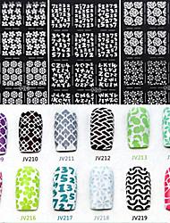 preiswerte -6 Nagel-Kunst-Aufkleber Diecut Maniküre Schablone 3D Nails Nagelaufkleber Abstrakt Make-up kosmetische Nagelkunst Design
