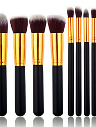 cheap -8pcs Makeup Brushes set Professional Silvery/Gold Powder brush Blush brush Eyeshadow Brush High Makeup Kit Synthetic Cosmetic Brushes