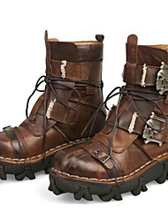 Men's Shoes Outdoor / Office & Career / Work & Duty / Party & Evening / Dress / Casual Nappa Leather Boots Black / Brown